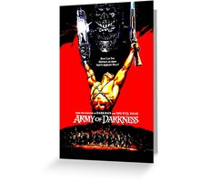 Army Of Darkness 80's Red and Black Design Greeting Card