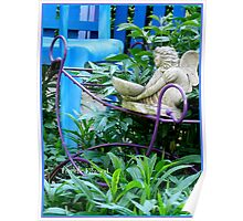 Winged Water Bringer in the Blue Fenced Garden Poster