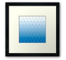 Blue Dragon Scales Framed Print
