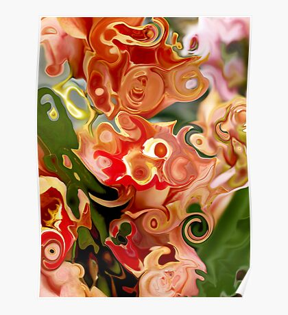 Flowers in Abstraction Poster
