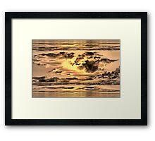 Golden Microburst Framed Print