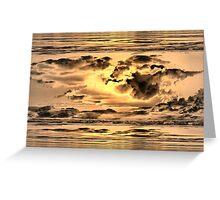 Golden Microburst Greeting Card
