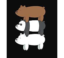 We Bare Bears! Photographic Print