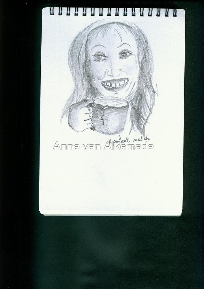 A sketchbook page by Anne van Alkemade