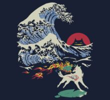 The Great Wave off Oni Island One Piece - Long Sleeve