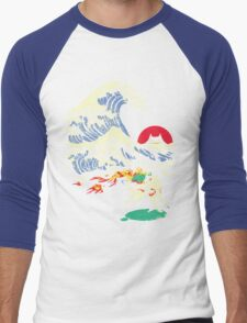 The Great Wave off Oni Island Men's Baseball ¾ T-Shirt