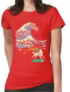 The Great Wave off Oni Island Womens Fitted T-Shirt