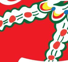 Red Dalahäst - Traditional Swedish pattern Sticker