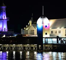 Pier Lights - Geelong by bekyimage