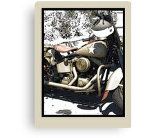ARMY CYCLE Canvas Print