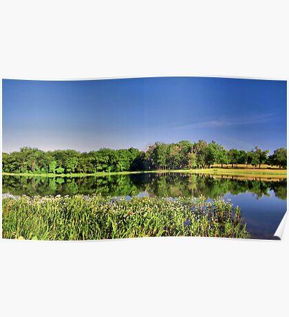 Morning Reflections - Lake Pickens, Sherman, Texas, USA Poster