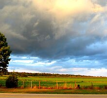 Stormy Skies Across The Street by Debbie Robbins