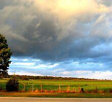 Stormy Skies Across The Street by Debbie Robbins