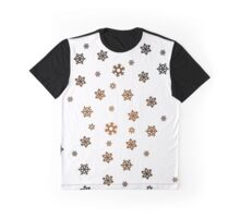 Snowflakes (Bronze and Black on White) Graphic T-Shirt
