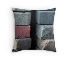 A Stack of Pavers Throw Pillow
