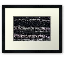 On a Shimmering Sea Framed Print