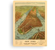 Panoramic Maps New York Canvas Print