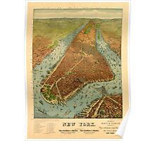 Panoramic Maps New York Poster