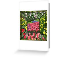Bold and Beautiful - Keukenhof Tulips Collage Greeting Card
