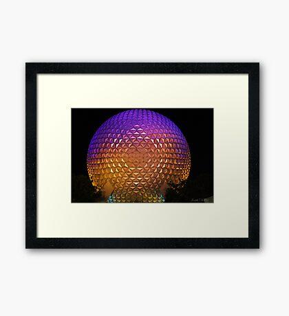 Epcot at night Framed Print