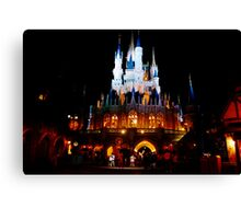 Nighttime at the Castle Canvas Print