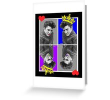 KING OF HEARTS X4 Greeting Card