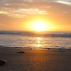 Sun on the horizon - Apollo Bay, Victoria by Heather Samsa