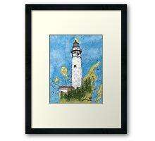S Manitou Island Lighthouse MI Nautical Chart Peek Framed Print