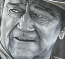 John Wayne (oil painting) Sticker
