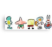 Spongebob - Minimal - Digital Repaint Canvas Print