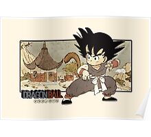 Son Goku on Mt. Paozu Poster