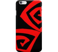 Black Red iPhone Case/Skin