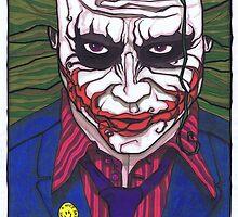 The Joker, The Dark Knight #3 by Spencer Holdsworth Art
