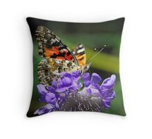 The Painted Lady Butterfly  Throw Pillow