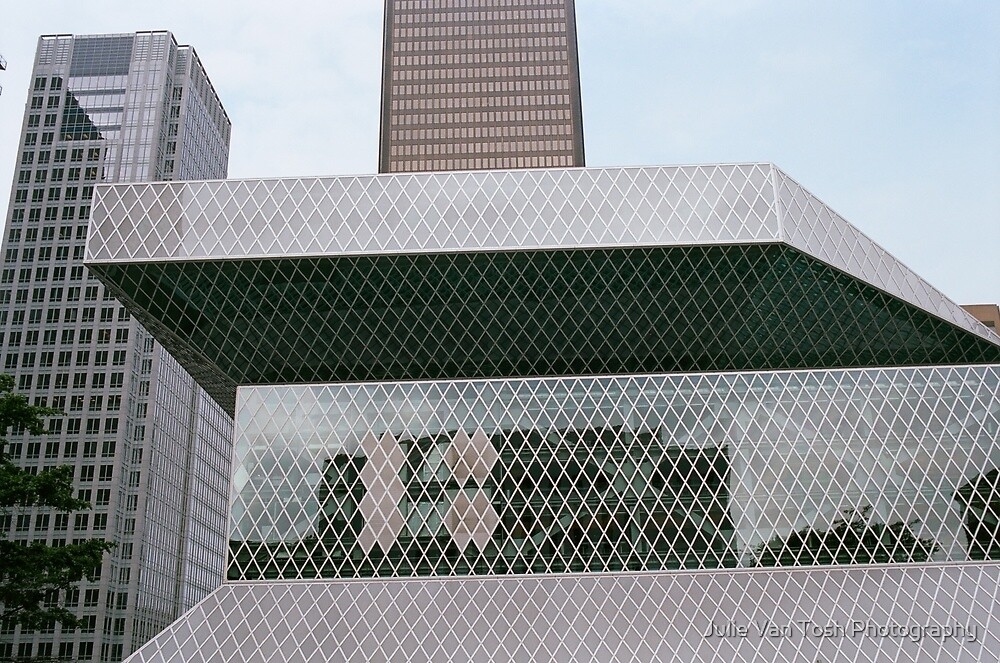 Seattle Public Library detail by Julie Van Tosh Photography