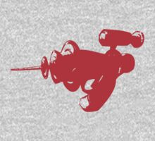 Alien Ray Gun - Red One Piece - Long Sleeve