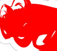 Alien Ray Gun - Red Sticker