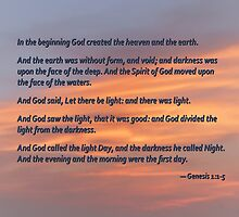 Genesis 1 1-5 In the Beginning by Susan Savad