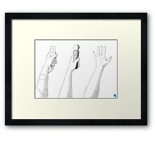 Hand Waving Framed Print