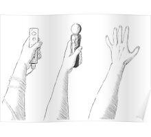Hand Waving Poster