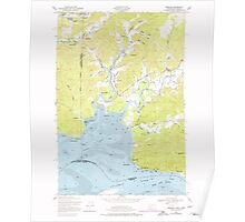 USGS Topo Map Washington State WA Rosburg 243515 1949 24000 Poster