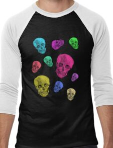 Van Gogh Skull remixed Men's Baseball ¾ T-Shirt
