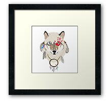 Spirited Wolf Framed Print