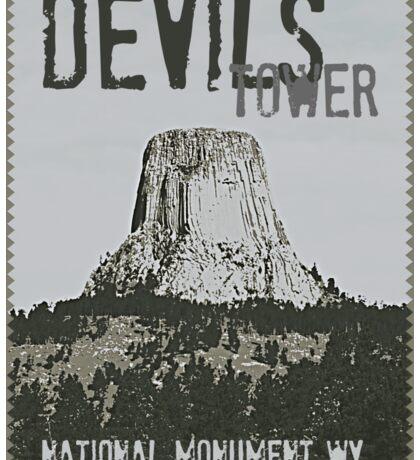 Devils Tower Stamp Sticker
