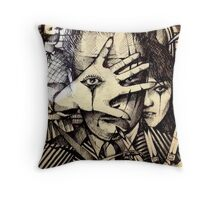 Playing With Scissors  Throw Pillow
