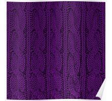 Knit Purple Poster