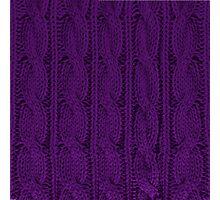 Knit Purple Photographic Print