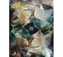 Abstract Grunge Triangles Photographic Print