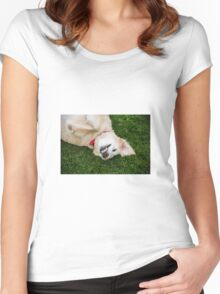 Smile for the Photographer!  Women's Fitted Scoop T-Shirt