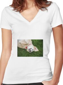 Smile for the Photographer!  Women's Fitted V-Neck T-Shirt